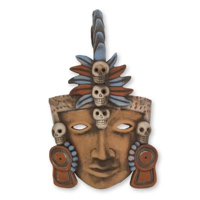 Ceramic mask, 'Tajin Ball Player' - Ceramic Mexican Pre-Hispanic Ball Player Mask