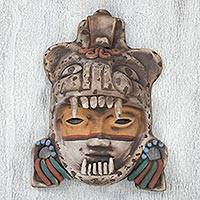 Ceramic mask, 'Tlaxcala Jaguar Warrior'