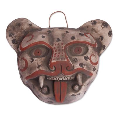 Handcrafted Mexican Ceramic Jaguar Mask