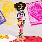 Catrina Day of the Dead Ceramic Sculpture from Mexico, 'Gorgeous Catrina'