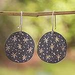 Taxco Silver Handcrafted Dangle Earrings from Mexico, 'Taxco Night'