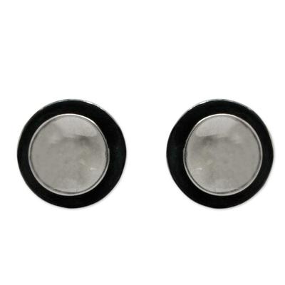 Taxco Jewelry Sterling Silver Button Earrings