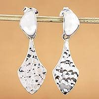 Sterling silver dangle earrings, 'Cosmopolite' - Artisan Crafted Sterling Silver Earrings from Taxco Jewelry