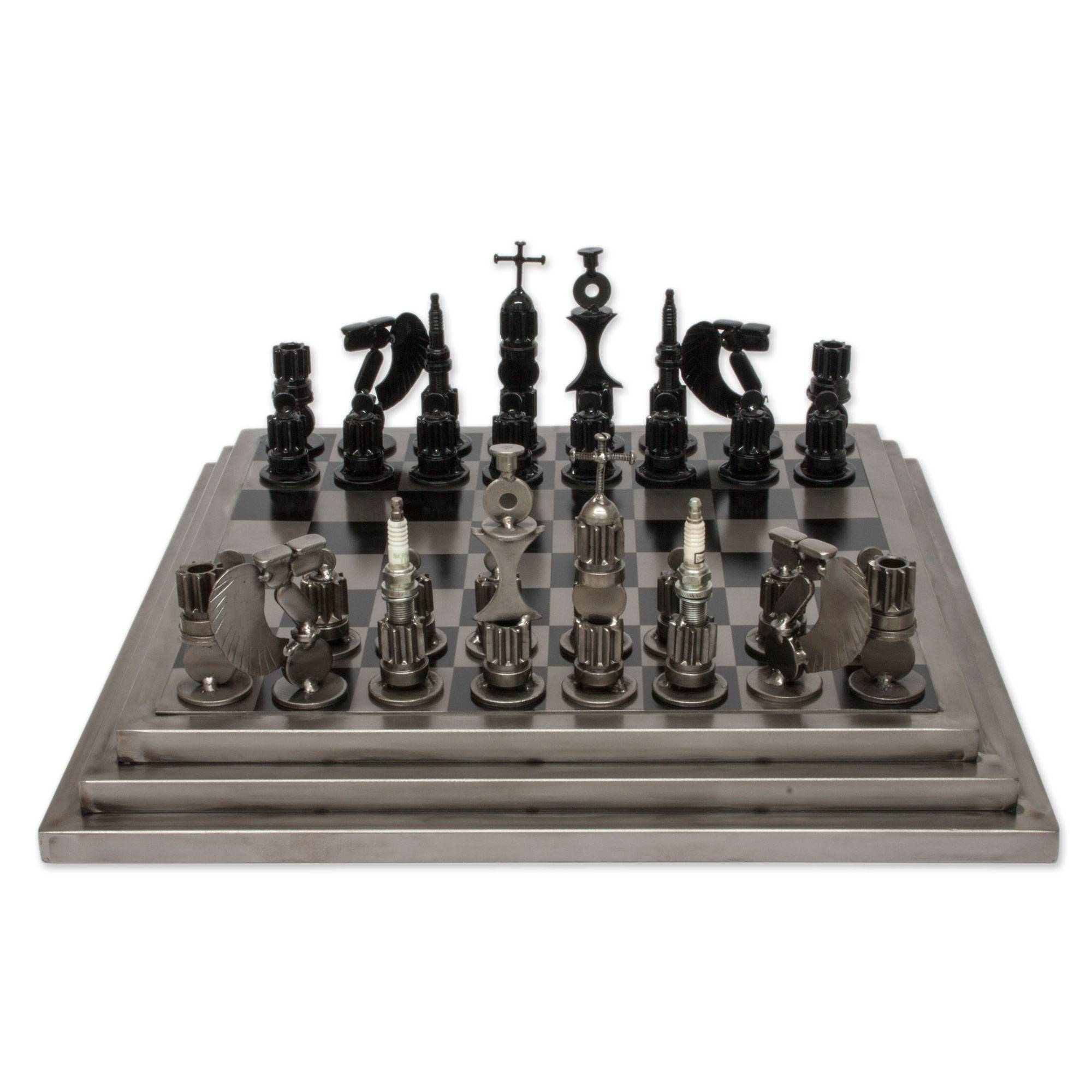 Modern Chess Table Chess Sets & Games  Handcrafted Chess Sets At Novica