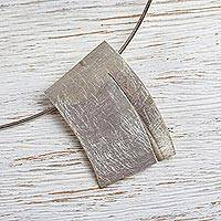 Sterling silver choker necklace,