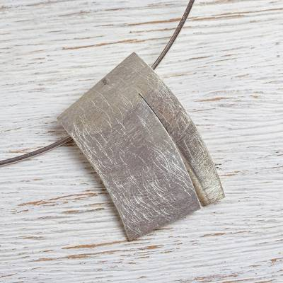Sterling silver choker necklace, 'Flake' - Modern Style Sterling Silver Choker from Mexican Jewelry