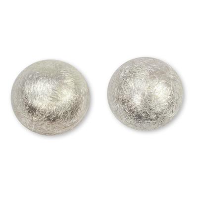 Sterling silver stud earrings, 'Victory Hemisphere' - Unique Modern Sterling Silver Stud Earrings