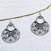 Sterling silver dangle earrings, 'Mazahua Joy' - Sterling Silver Artisan Crafted Earrings from Taxco