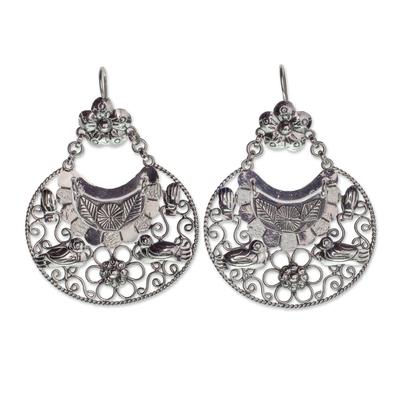 Sterling silver dangle earrings, 'Mazahua Joy' - Sterling Silver Artisan Crafted Earrings from Taxco