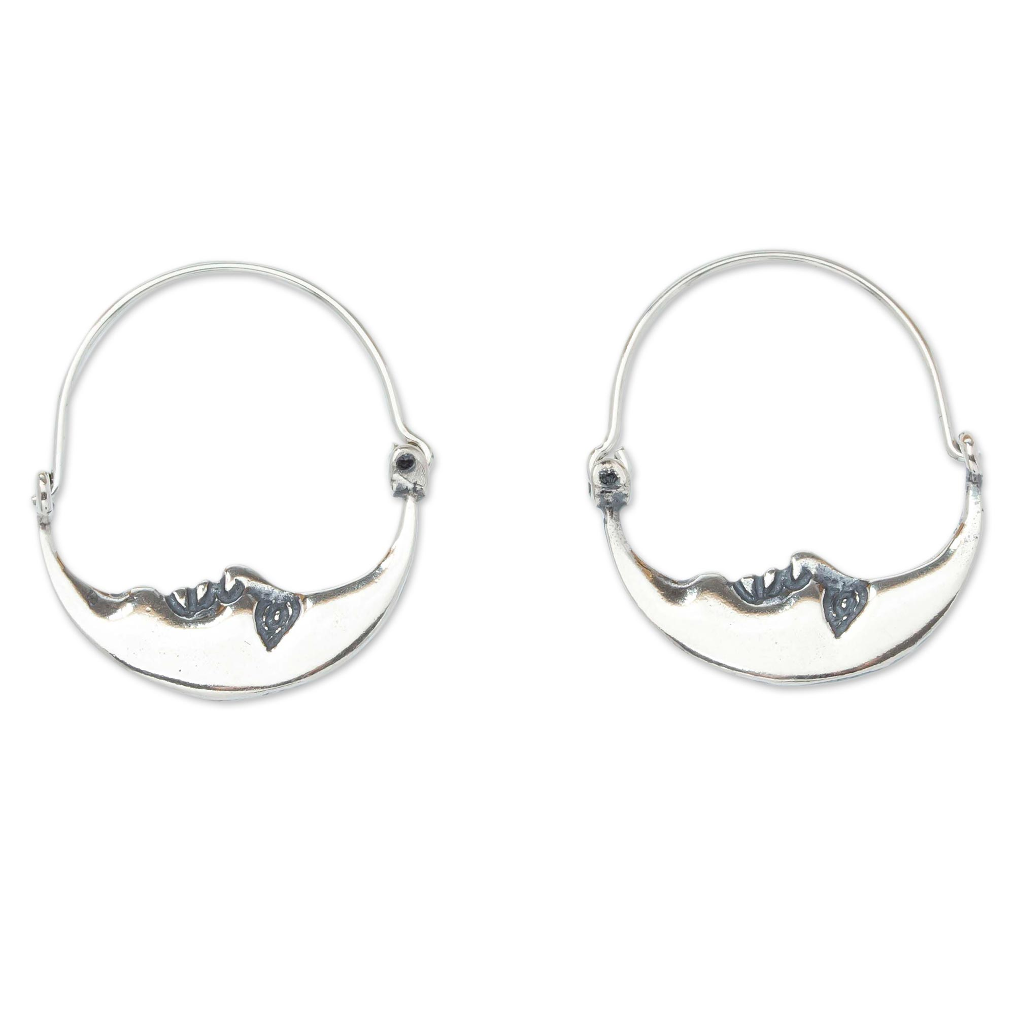 0c06605ee Unicef UK Market | Vintage Style Handcrafted Silver Crescent Moon ...