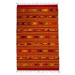 Handwoven Authentic Zapotec Wool Area Rug (5x8), 'Red Fire Opal'