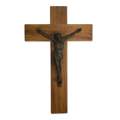 Hand Crafted Mexican Hardwood Wall Crucifix