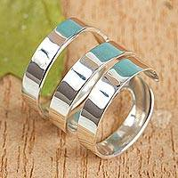 Sterling silver wrap ring, 'Ribbon Spin'