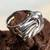 Sterling silver cocktail ring, 'Tolvanera' - Taxco Silver Artisan-Crafted Cocktail Ring from Mexico (image 2c) thumbail
