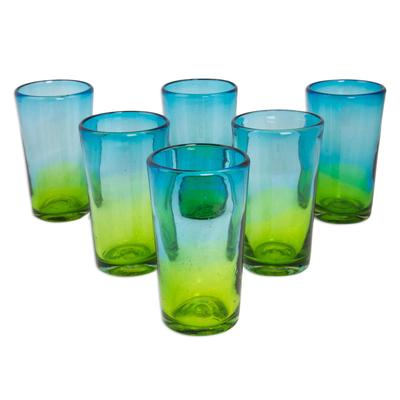 handblown highball glasses
