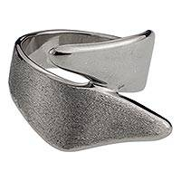 Sterling silver band ring, 'Meet Me' - Contemporary Mexican Wide Sterling Silver Ring