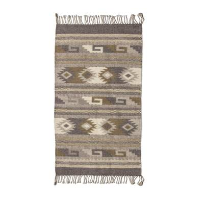 Zapotec Wool 2x3 Rug with Natural Dyes Colors Woven by Hand