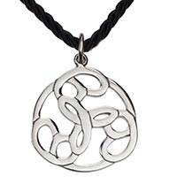 Sterling silver pendant necklace, 'Peace Chain' - Modern Handcrafted Mexican 925 Sterling Silver Necklace