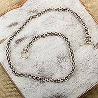 Sterling silver chain necklace, 'Cancun' - Handcrafted 20-Inch Unisex Sterling Silver Chain Necklace