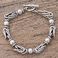 Sterling silver chain bracelet, 'Marvelous Lighthouse' - Sterling Silver Chain Bracelet from Mexico