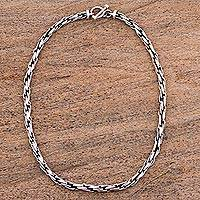Sterling silver chain necklace, 'Smooth' - Sterling Silver .925 Chain Necklace from Mexico