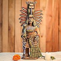 Ceramic sculpture, 'Priest of Quetzalcoatl'