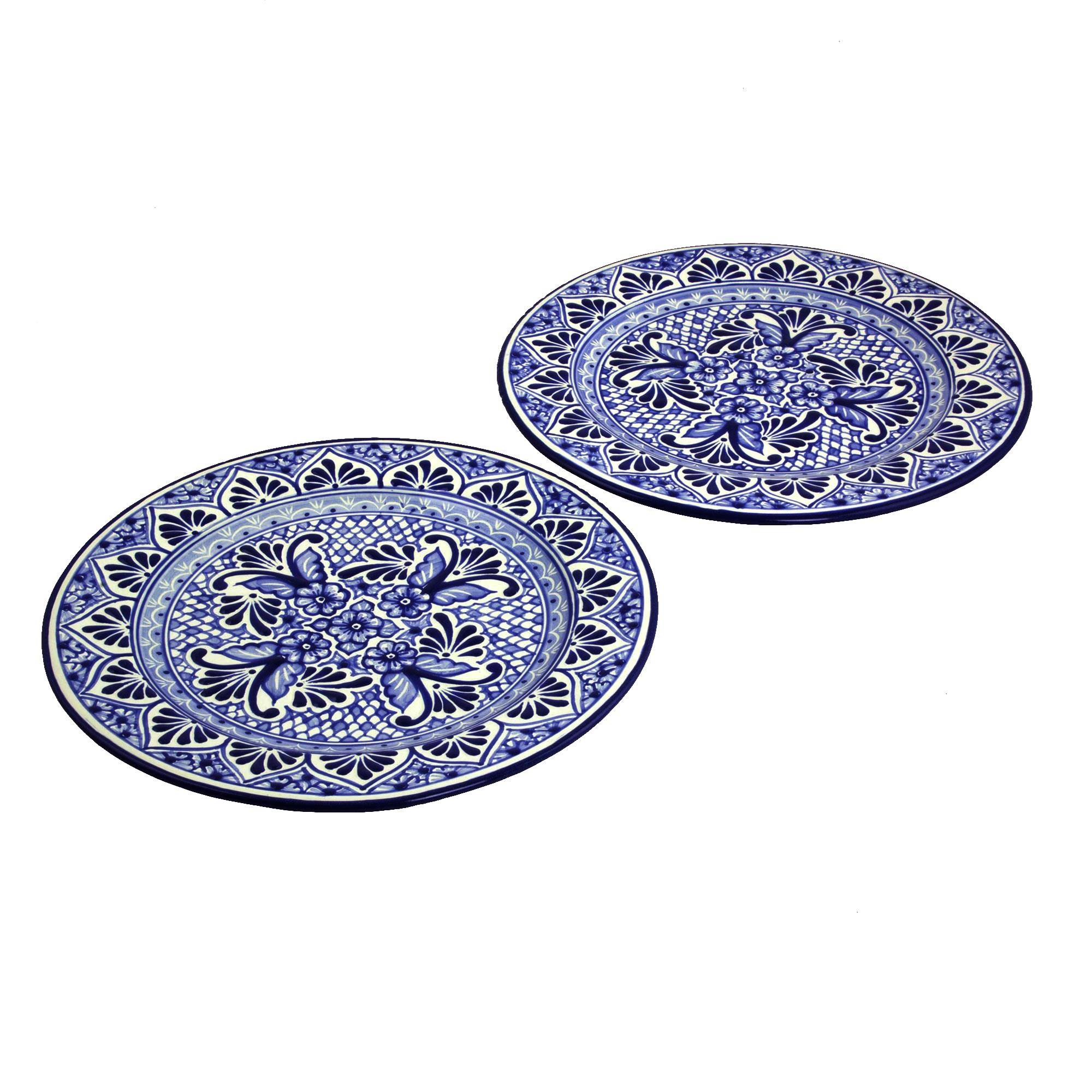 """Details about  /TALAVERA PLATE 8/"""" Lead Free Lemons and flowers NEW"""