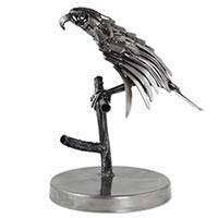 Upcycled metal sculpture, 'Mighty Aztec Eagle'