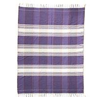 Featured review for Cotton tablecloth, Purple Horizon
