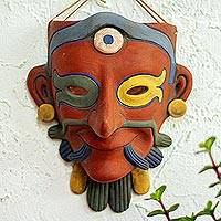 Ceramic mask, 'Ek Chuak Maya Lord'