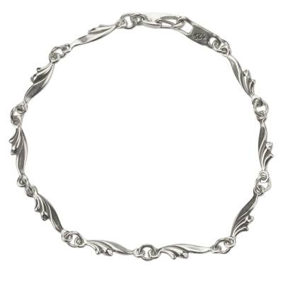 Sterling Silver Artisan Crafted Link Bracelet from Mexico