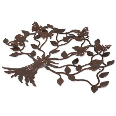 Unicef Market Artisan Crafted Iron Wall Decor With Butterfly Motif Butterfly Tree