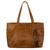 Leather shoulder bag, 'Capacious in Chestnut Brown' - Roomy Chestnut Brown Artisan Crafted Leather Shoulder Bag thumbail