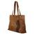 Leather shoulder bag, 'Capacious in Chestnut Brown' - Roomy Chestnut Brown Artisan Crafted Leather Shoulder Bag (image 2b) thumbail