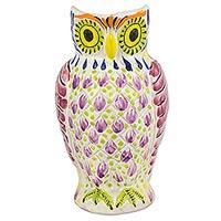 Majolica ceramic pitcher,