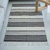 Zapotec wool rug, 'Essential Earth' (2.5x5) - Zapotec Handwoven Rug in Undyed Natural Wool (2.5 x 5)