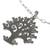 Sterling silver pendant necklace, 'Lovebird Tree' - Mexican Sterling Silver Tree Theme Necklace with Birds (image 2c) thumbail