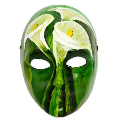 Signed Handcrafted Modern Mexican Papier Mache Mask