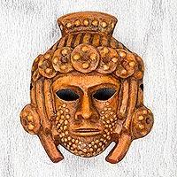 Papier mache mask, 'Maya Stone Princess' - Maya Princess Theme Handcrafted Papier Mache Mask