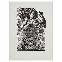 'Dreams of Salt' - Mexican Mermaid Etching Print Signed Limited Edition