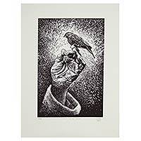 'Such Is Love' - Etched Print of Mexican Canary Signed Limited Edition
