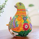 Hand Crafted Ceramic Dove Sculpture from Mexico, 'Splendid Dove'