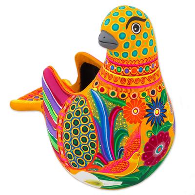 Ceramic sculpture, 'Splendid Dove' - Hand Crafted Ceramic Dove Sculpture from Mexico
