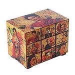 Frida Kahlo Art Decoupage on Pinewood Decorative Box, 'Blossoming Frida'