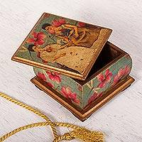 Decoupage decorative box, 'Two Fridas in Turquoise'
