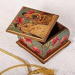 Mexican Decorative Box in Decoupage featuring Frida Kahlo, 'Two Fridas in Turquoise'