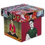 Frida Kahlo on Artisan Crafted Decorative Box in Decoupage, 'Day of the Dead Frida'
