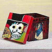 Decoupage decorative box, 'Day of the Dead Muses'