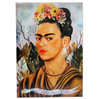 frida kahlos self-portrait essay Like many paintings by frida kahlo, self-portrait dedicated to leon trotsky  focuses on a particular event in the artist's life it commemorates the brief affair  kahlo.