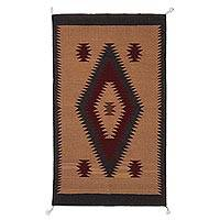 Featured review for Zapotec  wool area rug, Desert Diamonds (2x3)